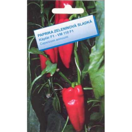 Paprika na poľné pest. sladká – Káplár F1 – VM110F1 /kápia/ – 100 sem.