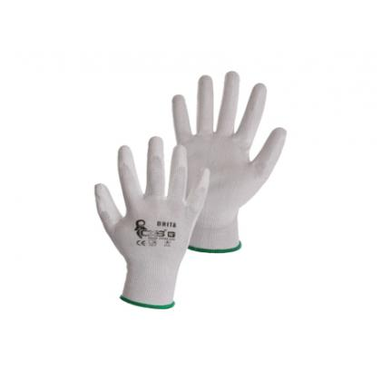 rukavice BRITA biele, vel.6