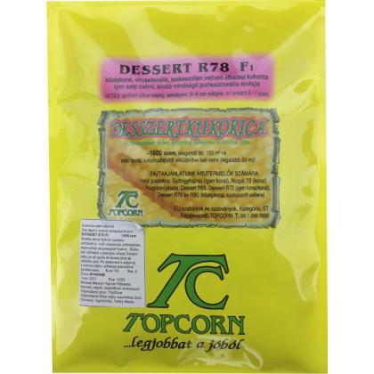 Kukurica cukrová – stredne neskorá – Dessert R78 F1, 1000 sem.