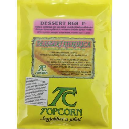 Kukurica cukrová – skorá – Dessert R68 F1, 1000 sem.