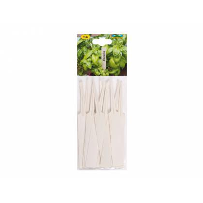 Menovka plastová- zapichovacia 14x1,8cm 15ks