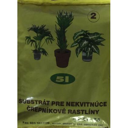 Substrát na nekvitnúce rastliny 5l/10l