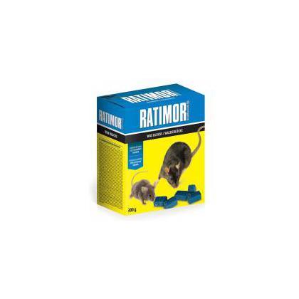 RATIMOR brodifacoum parafínove bloky 300 g