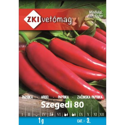 Paprika koreninová sladká – Szegedi 80, 1g