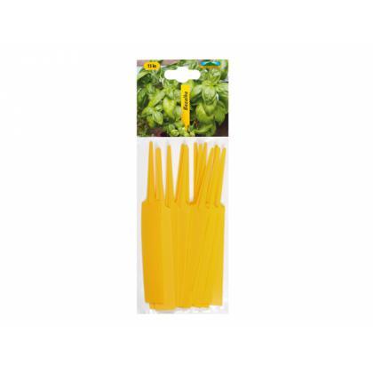 Menovka plastová žltá - zapichovacia 14x1,8cm 15ks