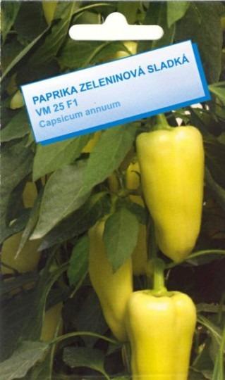 Paprika na rýchlenie sladká – VM 25 F1, 25 sem.