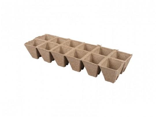 Kvetináč rašelinový na priesady 12ks/5x5cm