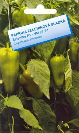 Paprika na rýchlenie sladká – Zelenika F1 – VM 27 F1, 25 sem.
