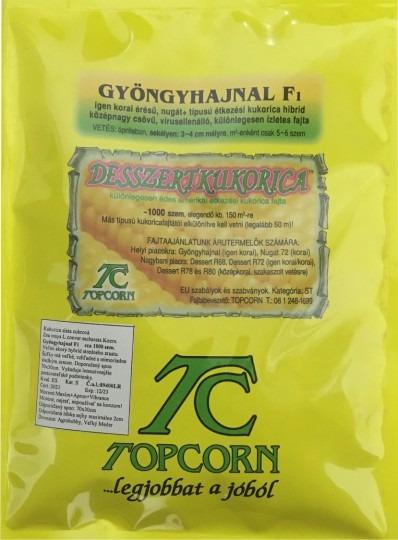 Kukurica cukrová – veľmi skorá – Gyöngyhajnal F1 (Gyöngymazsola F1), 1000 sem.