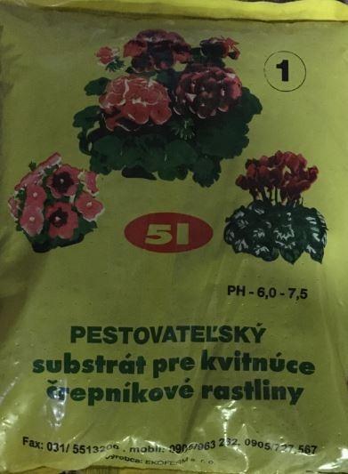 Substrát na kvitnúce rastliny 10l